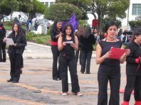 Juliana Borr, IMA alumni, leading women in street thater in Colombia