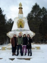 Francis X. Charet, faculty, takes his students to a local Buddhism center