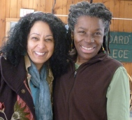 Marianela Medrano, visiting scholar, with Ruth Farmer, IMA program director