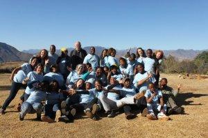 Katt Lissard (upper right) on her Fulbright in Lesotho