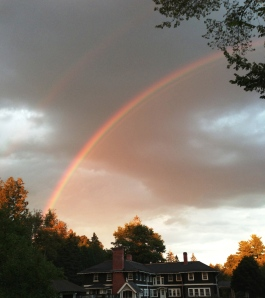 A rainbow over campus