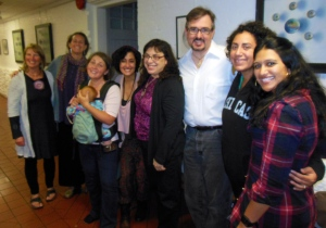 From left: Deb Hensley, Joanna Tebbs Young, Amber and Ronan Ellis, Miriam Gabriel, Caryn Mirriam-Goldberg, Scott Youmans, Taina Asili and Seema Reza