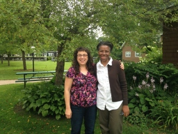 GGI Program Director Ruth Farmer (right) and Transformative Language Arts coordinator Caryn Mirriam-Goldberg