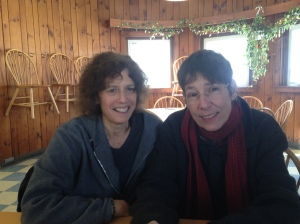 GGI faculty member Lise Weil (left) with Danielle Boutet