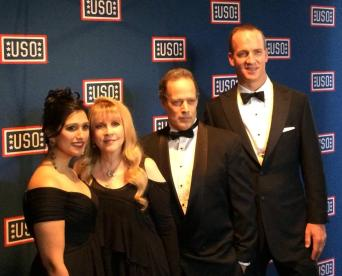 Seema Reza with Stevie Nicks, Sebastian Junger, and Peyton Manning at USO Awards