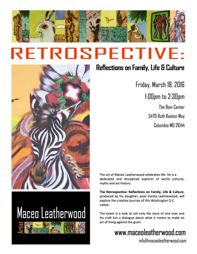 Artisit Maceo Leatherwood Retrospective Flier